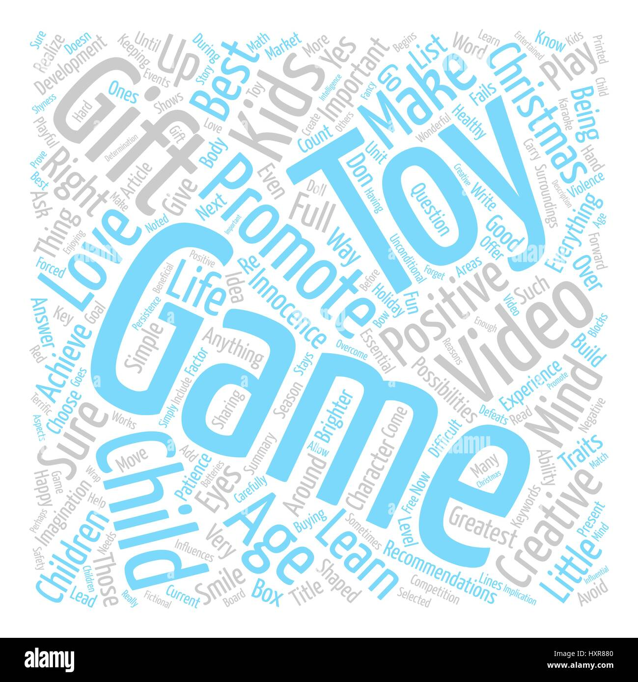 Are Toys Video Games The Right Christmas Gifts For Kids Word Cloud ...
