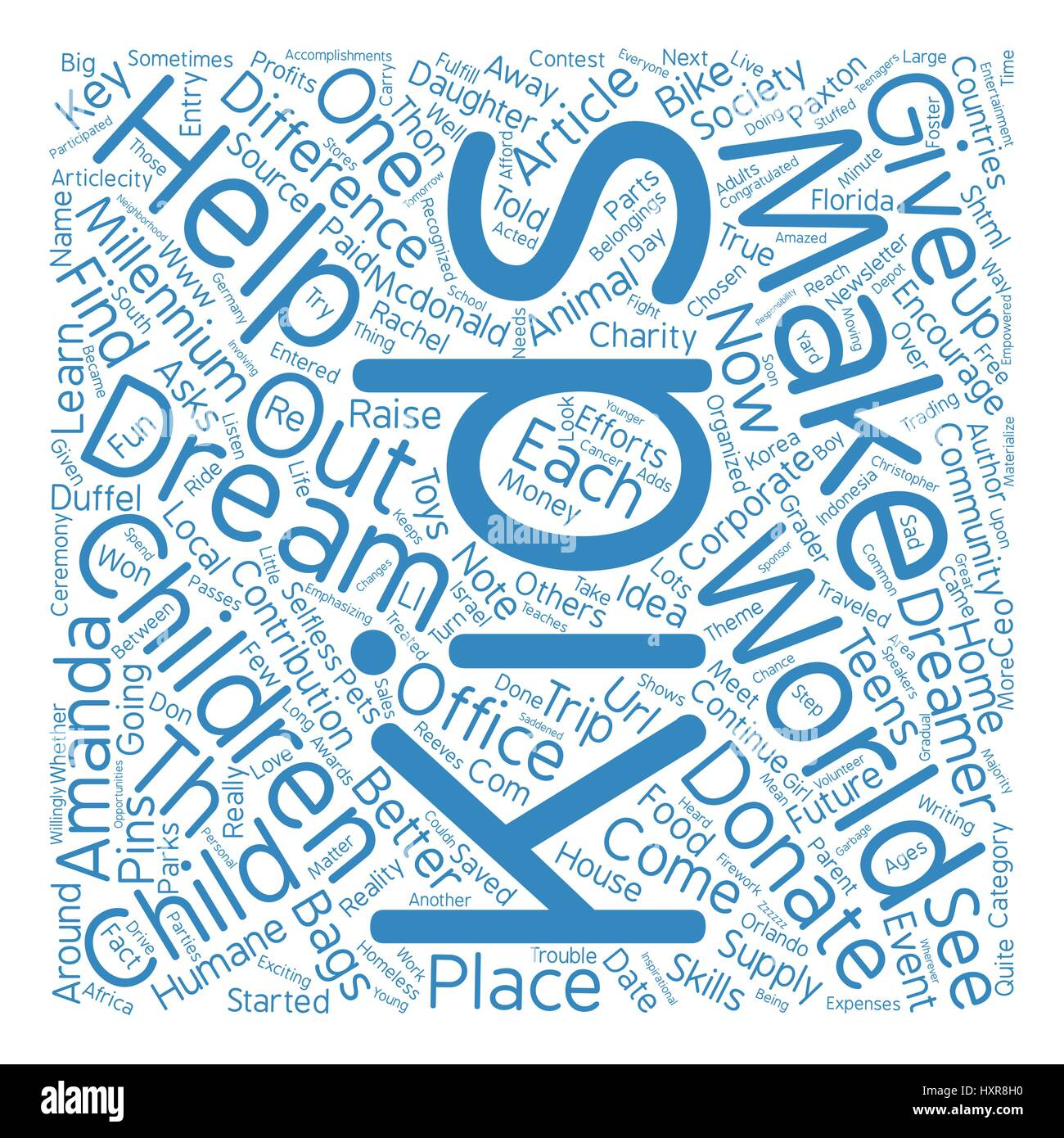 Awesome Gift Ideas For The Teenage Dude text background word cloud concept Stock Vector