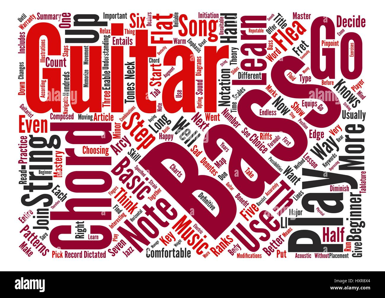 Be One With Your Bass Guitar Chords Text Background Word Cloud Stock