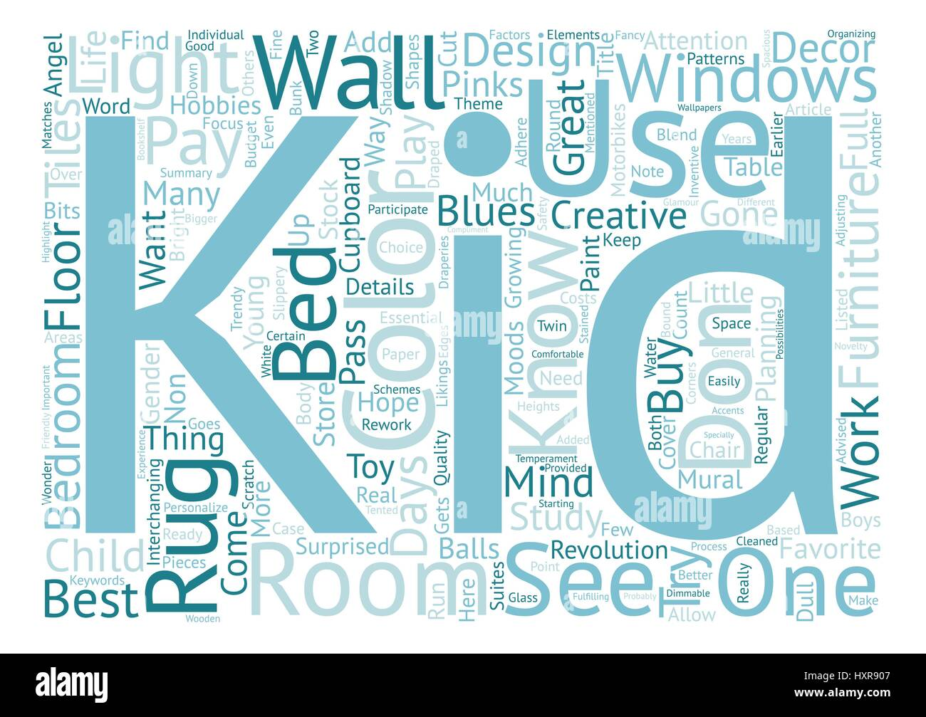 Bedroom Decorations For Kids Text Background Word Cloud