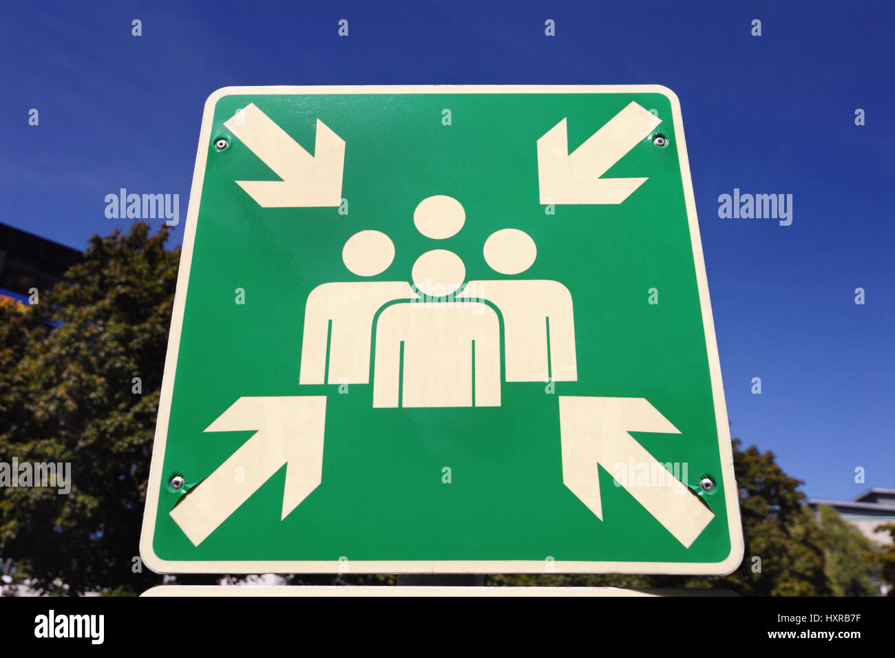 Sign Collective place, Schild Sammelstelle - Stock Image