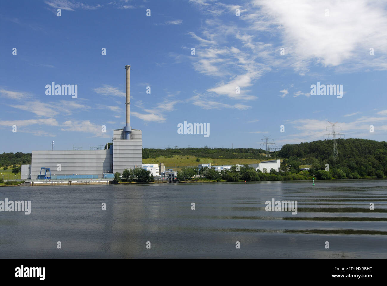 Atomic power station, AKWs, nuclear power plant, nuclear power station, KKW, KKWs, Kr?mmel, Schleswig - Holstein, - Stock Image