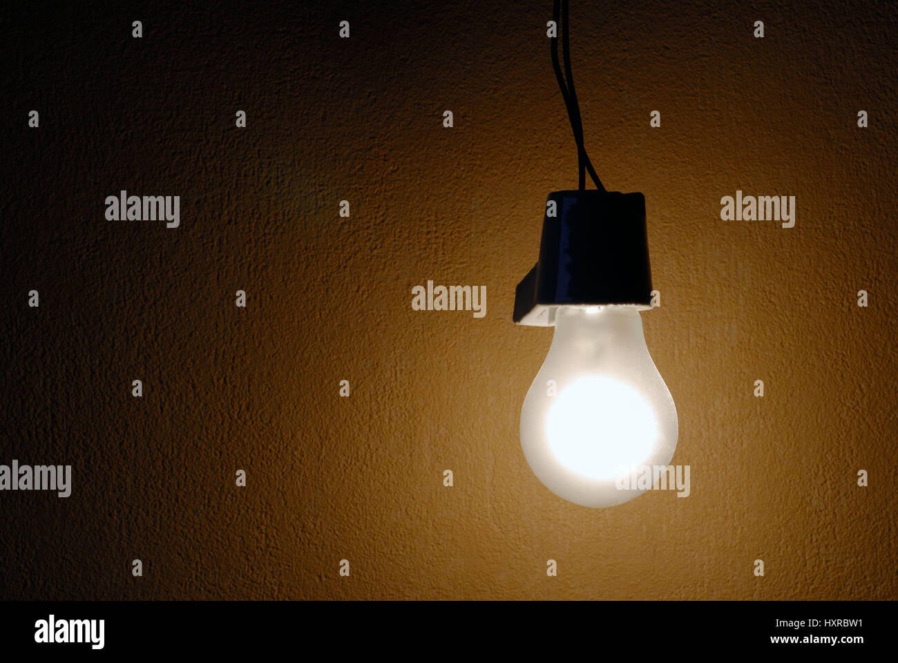Electric light bulb, electric light bulbs, light bulb, light bulbs, classical, classically, climate killer, power - Stock Image