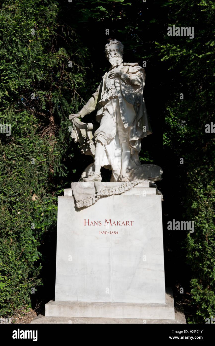 Hans-Makart-Denkmal im Stadtpark, Wien - Stock Image