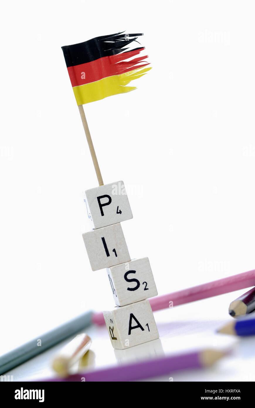 Pisa study, Pisa, study, studies, Germany, badly, education, educational plight, school, schools, bad, bad, stupidly, silly, schoolboys, educational t Stock Photo