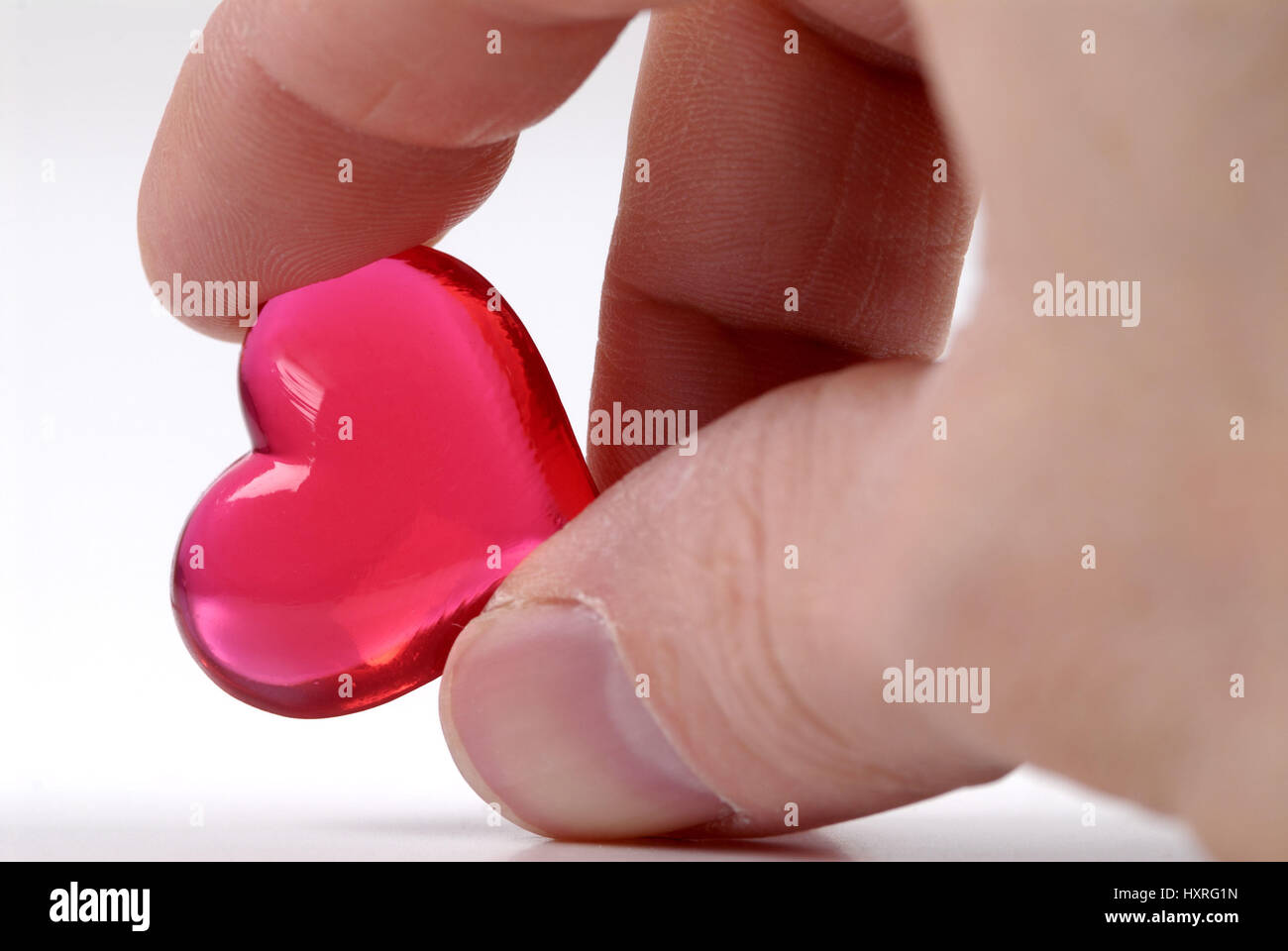 Heart, hearts, red, red, red, love, partnership, partnerships, feeling, feelings, love, there fall in love, hand, - Stock Image