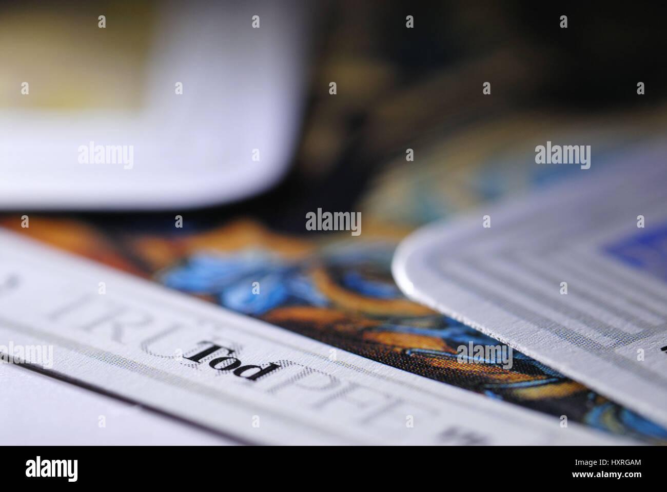 'Tarot maps, map ''The death''', Tarotkarten, Karte 'Der Tod' - Stock Image