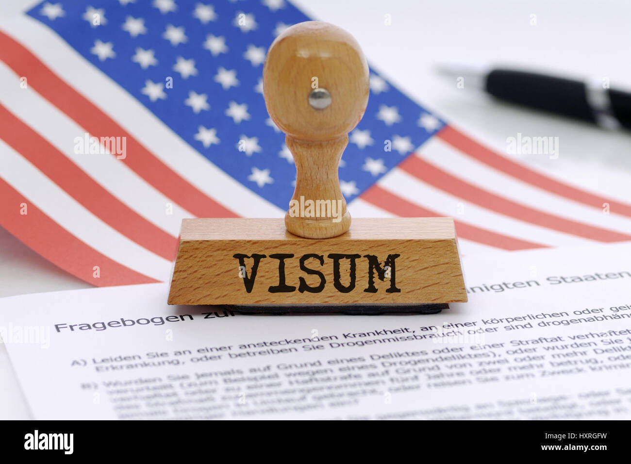 Trip, travelling, travel, vacation, flight, visa, visas, entry, enter, answer stay, America, united, states, from, the USA, flag, flags, US flag, US f Stock Photo