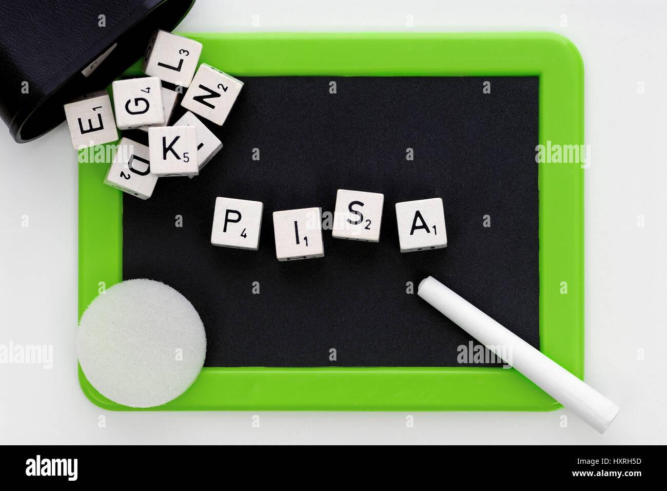Pisa study, Pisa, study, studies, Germany, badly, education, educational plight, school, schools, bad, bad, stupidly, Stock Photo