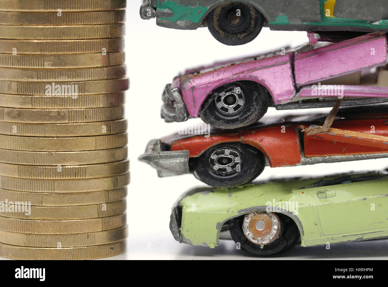 Car, cars, miniature car, miniature cars, broken, broken, scrapped ...