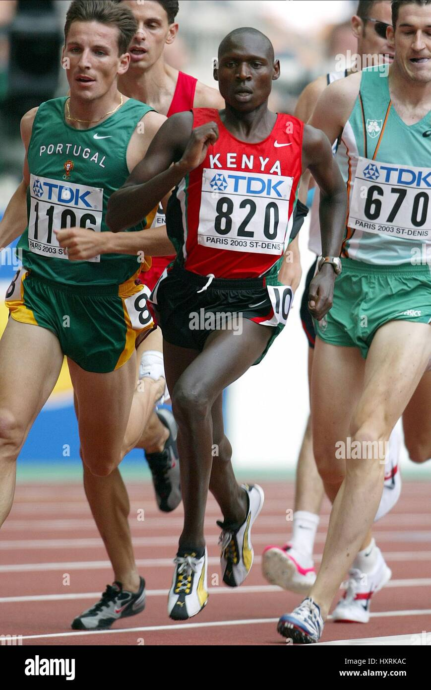 ISAAC SONGOK 1500 METRES STADE DE FRANCE ST DENIS PARIS FRANCE 23 August 2003 - Stock Image