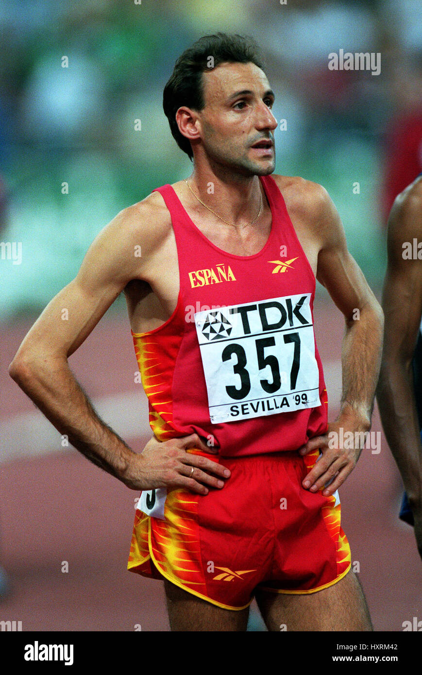 FERMIN CACHO 1500 METRES 24 August 1999 - Stock Image