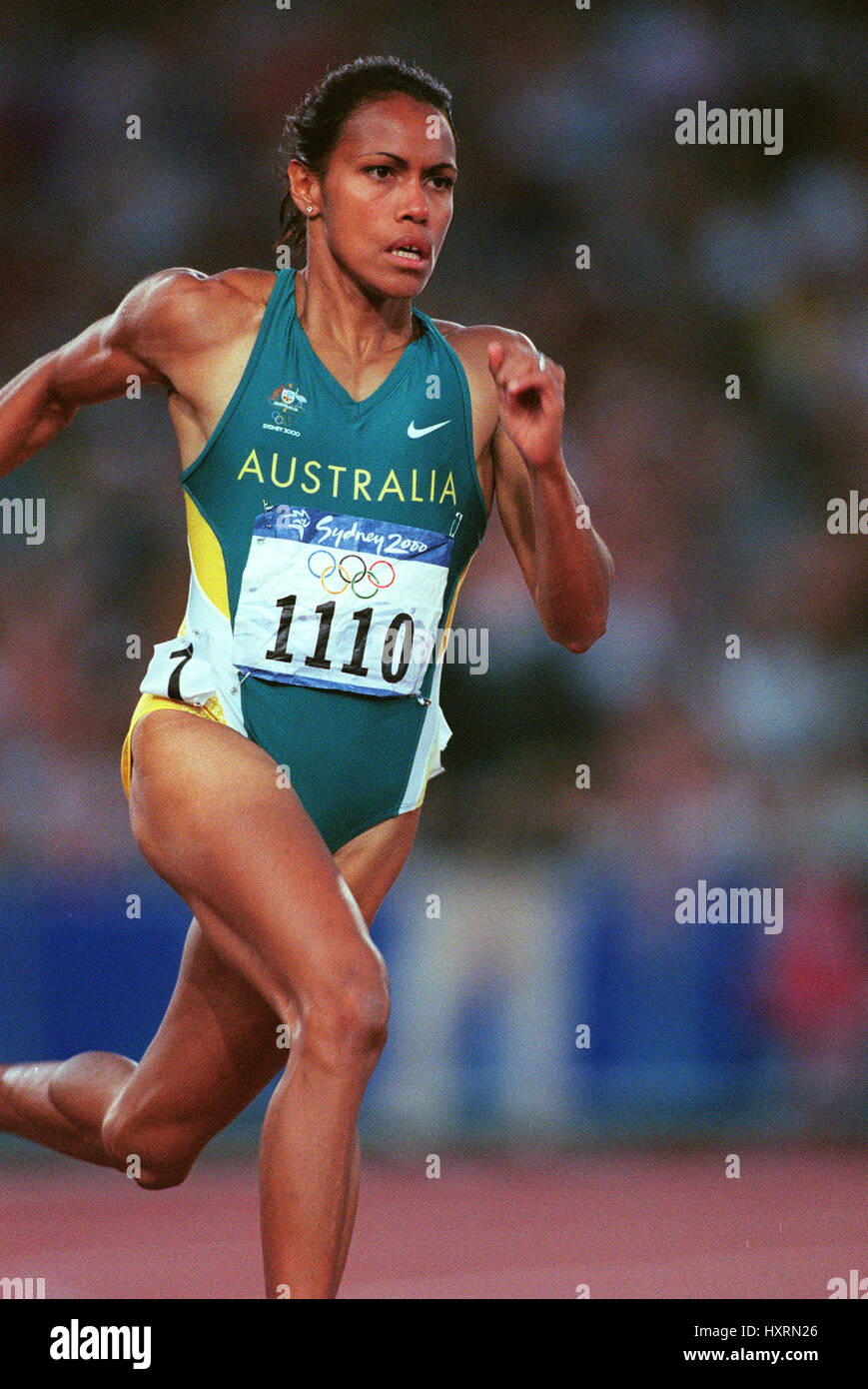 foto Cathy Freeman 2 Olympic medals in running