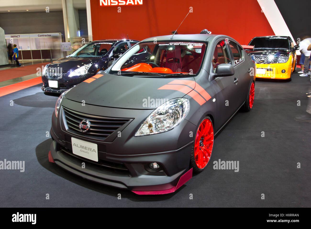 Bangkok June 23 Nissan Almera Show At The Second Bangkok Stock Photo Alamy
