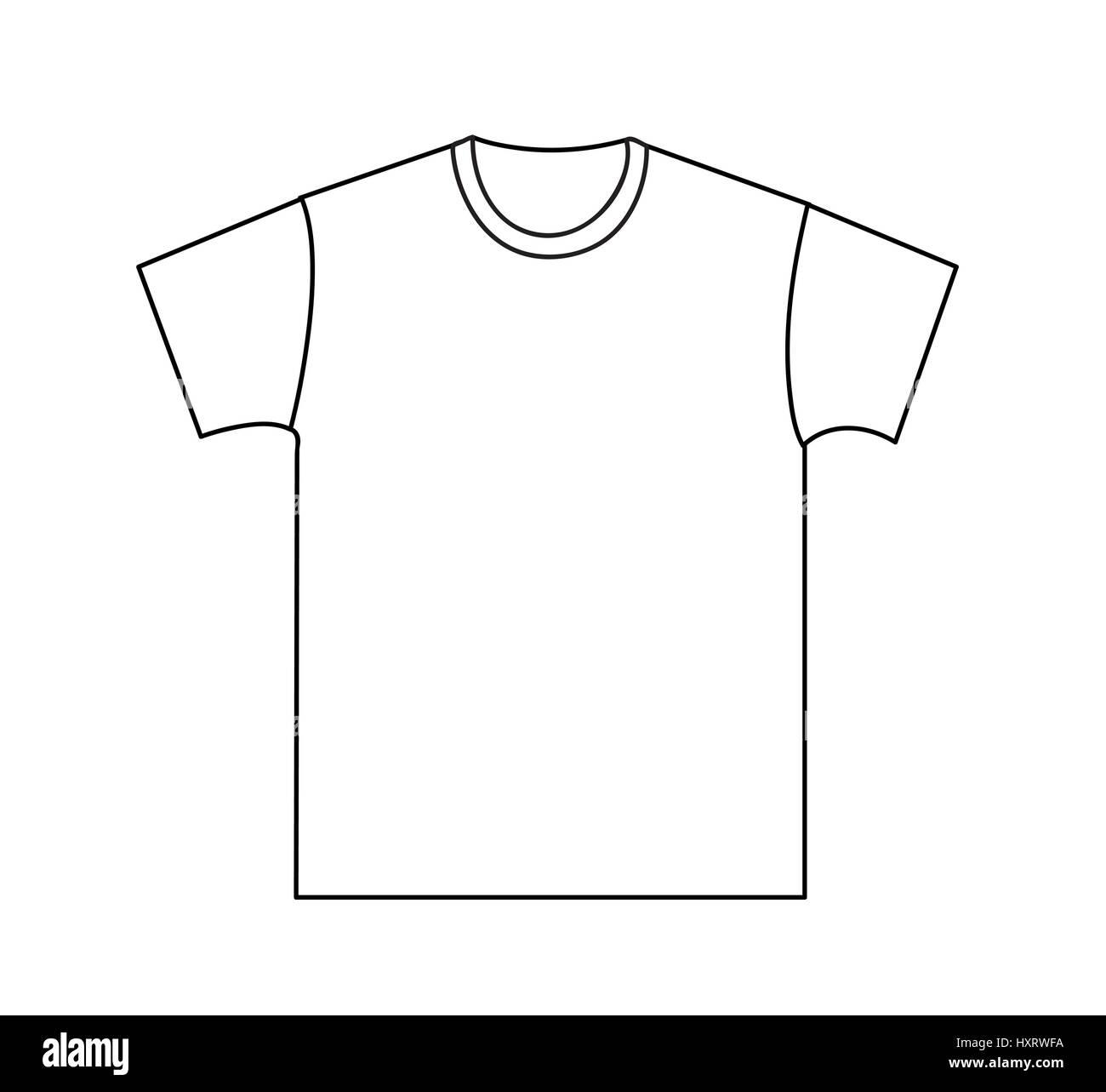 Blank T Shirt Schablone Vorder Und Ruckseite