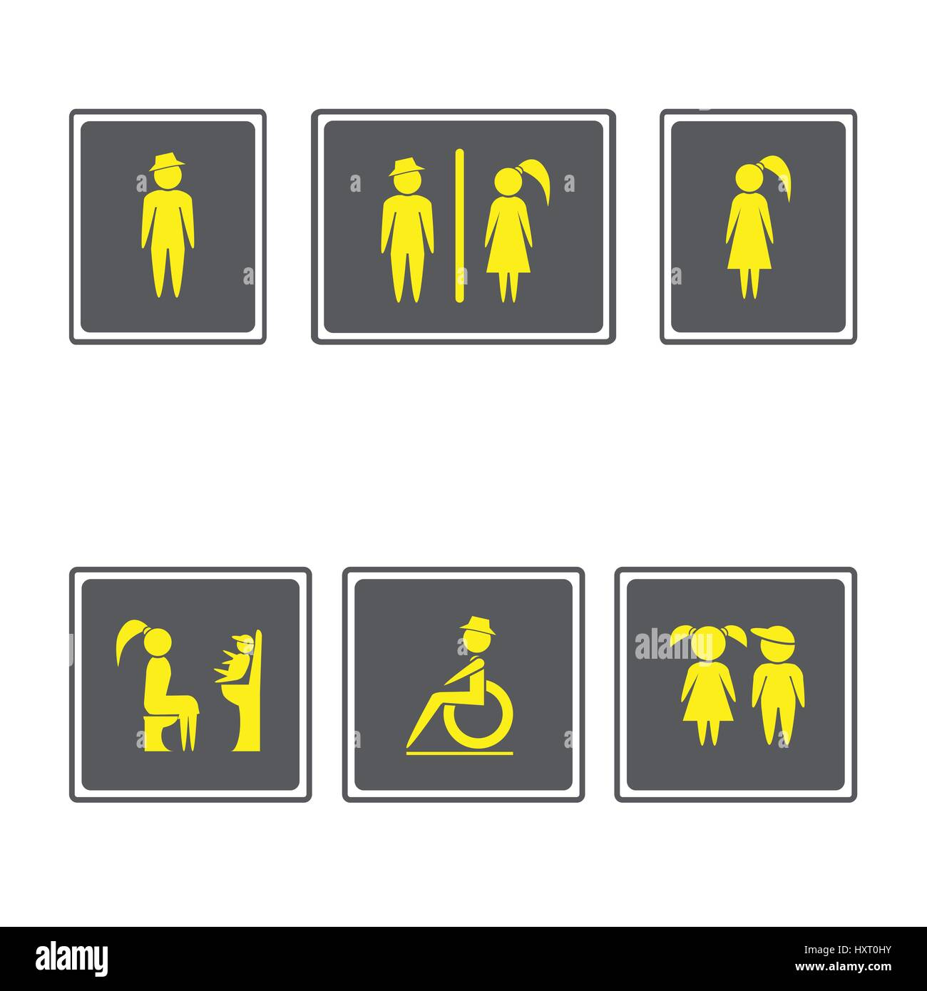 Toilet Signs Restroom Signboardsy And Girl Iconn And Woman