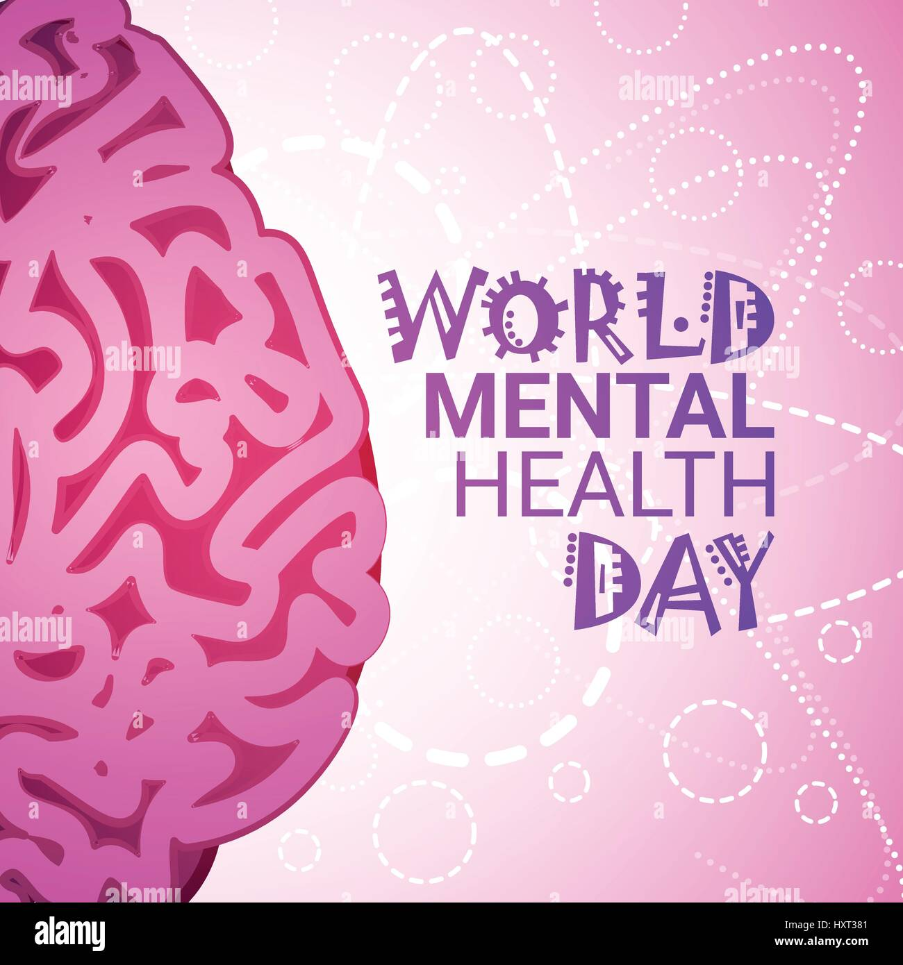 World Mental Health Day 7 April Global Holiday Concept
