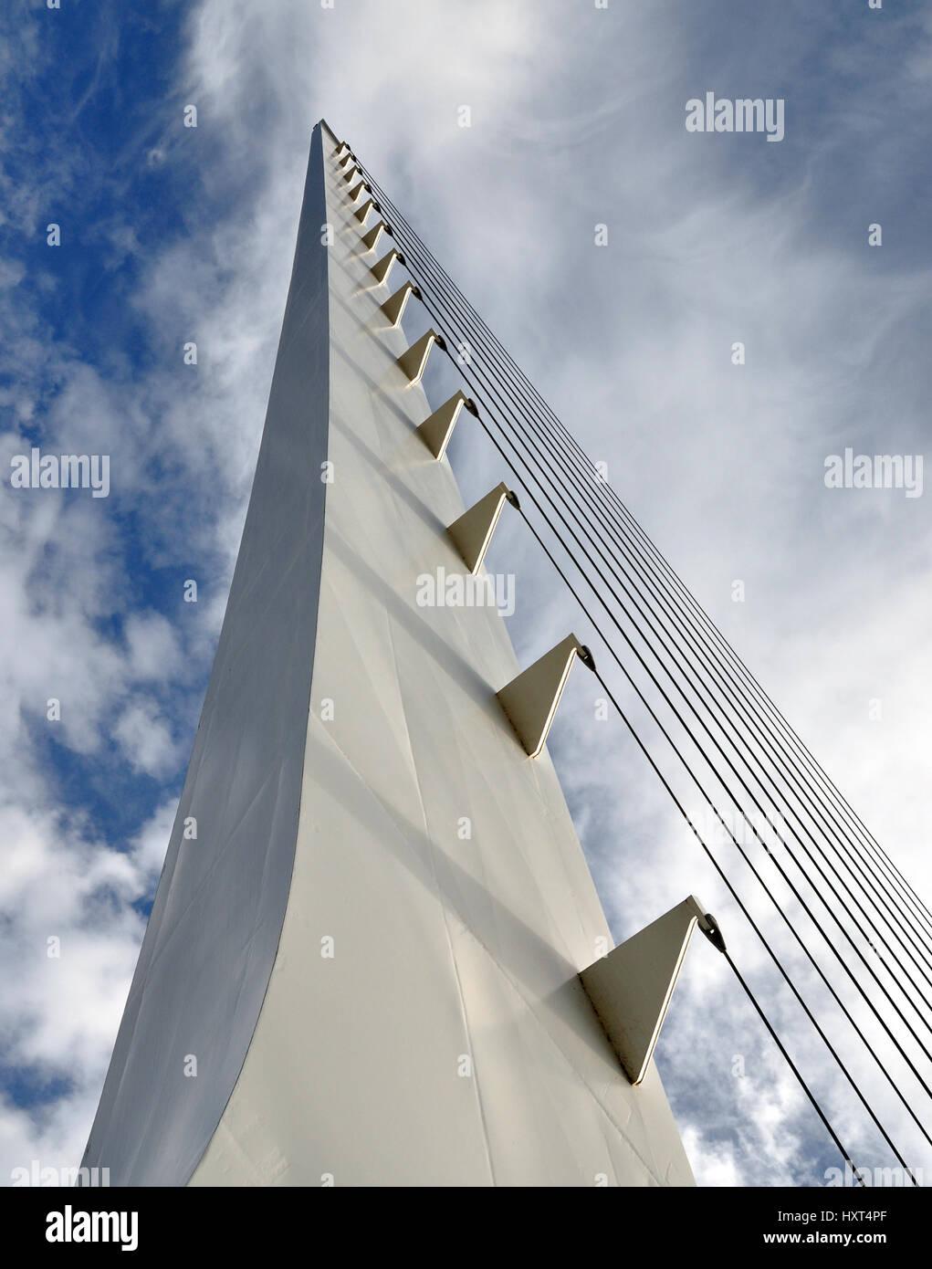 Sundial Bridge Redding California - Stock Image