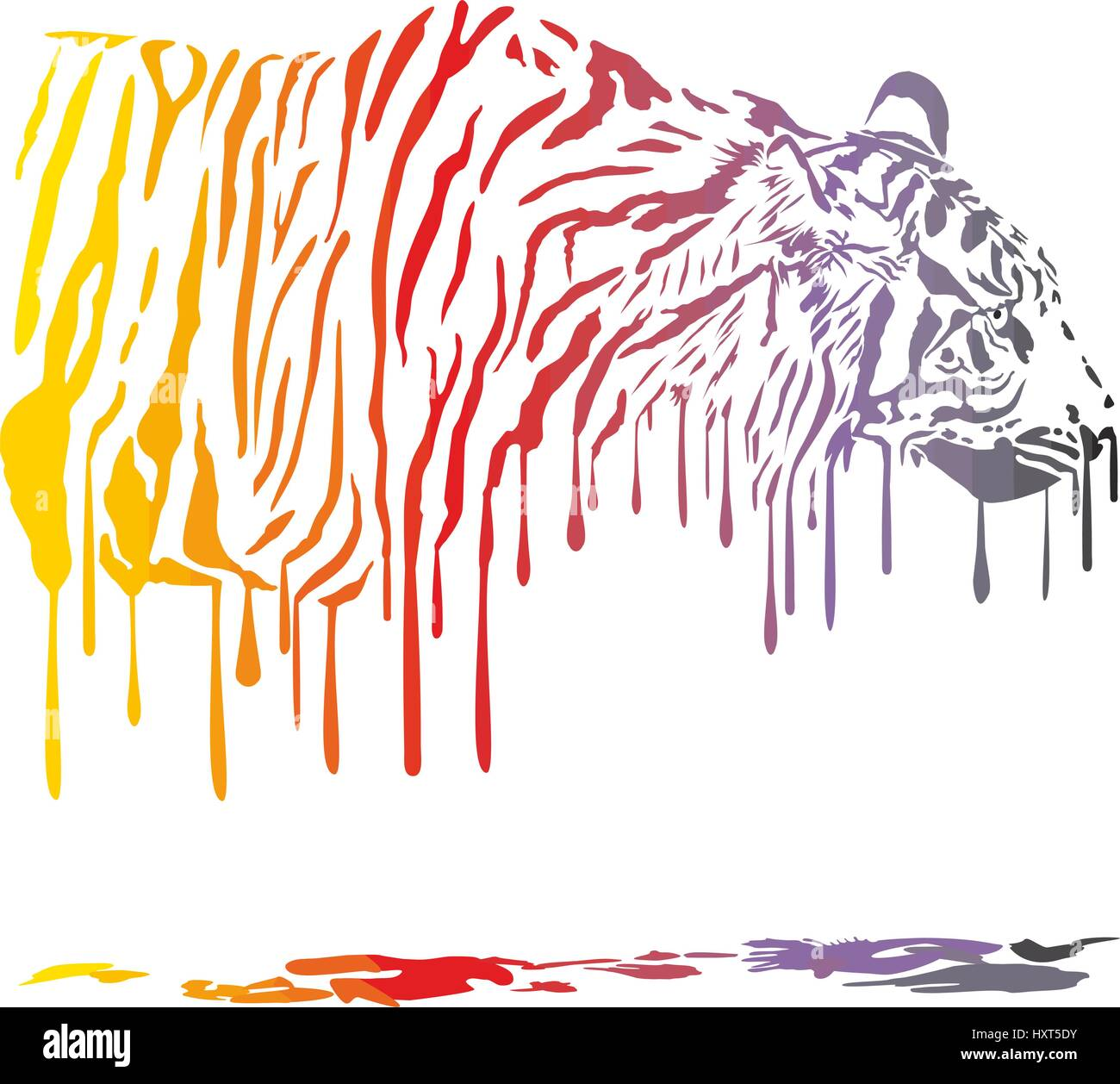 Tiger Abstract Painting - Stock Vector