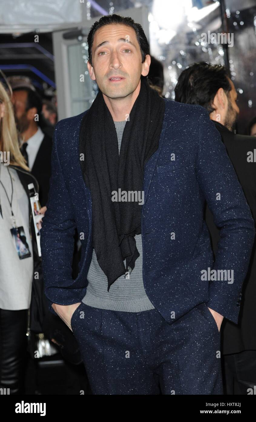New York, NY, USA. 29th Mar, 2017. Adrien Brody at arrivals for GHOST IN THE SHELL Premiere, AMC Loews Lincoln Square, - Stock Image