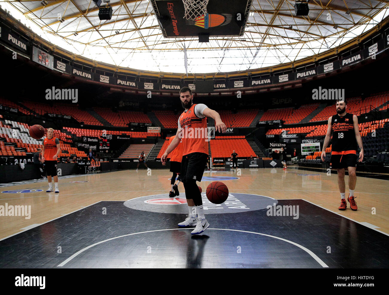 Valencia Basket S Montenegran Center Bojan Dubljevic Attends A