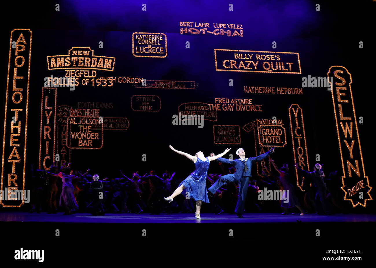 London, UK. 30th Mar, 2017. Pic shows: 42nd Street show at Theatre Royal Drury Lane starring Stuart Neal as Billy - Stock Image