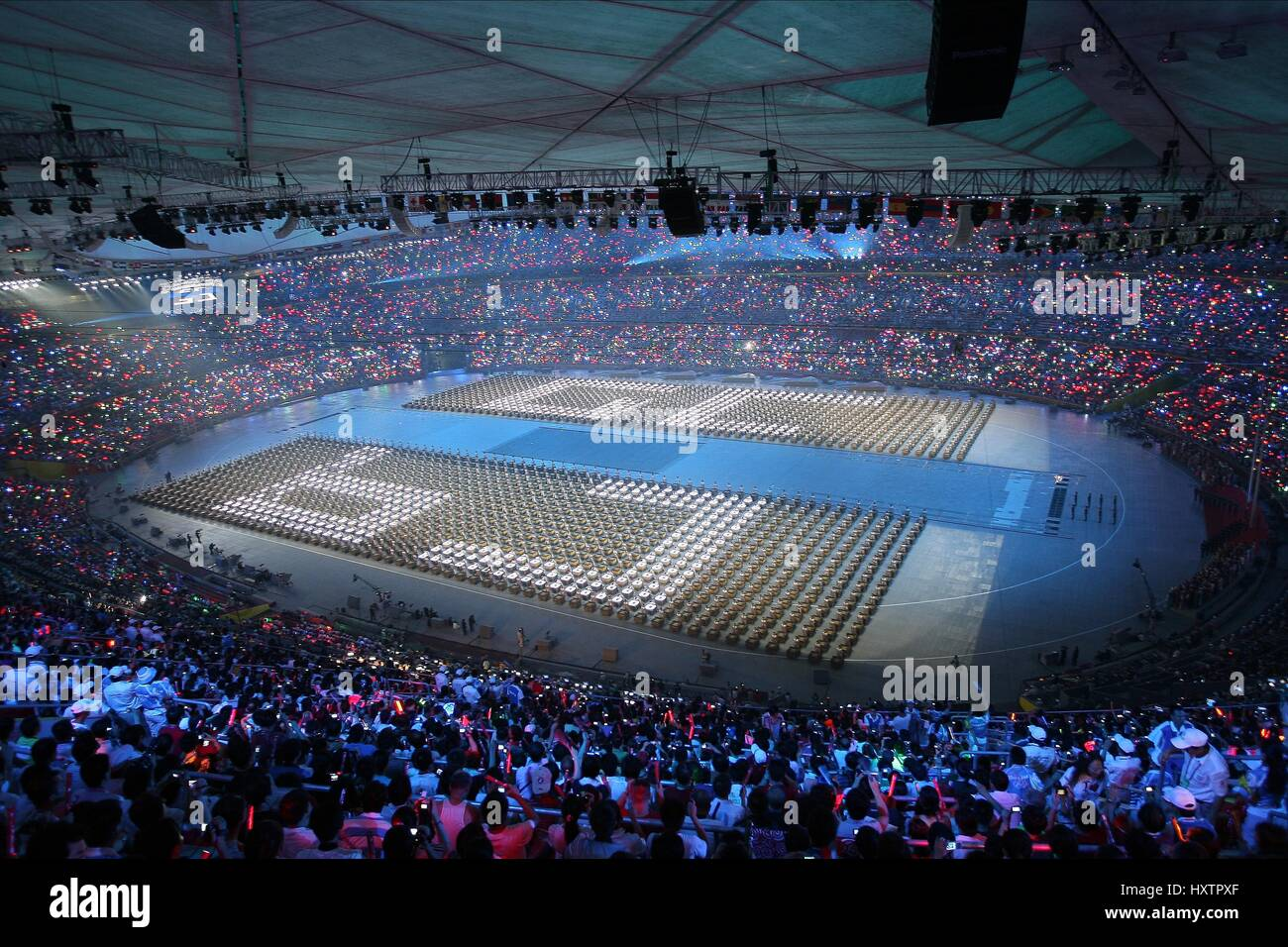 Inside the birds nest opening ceremony olympic stadium for The bird s nest stadium