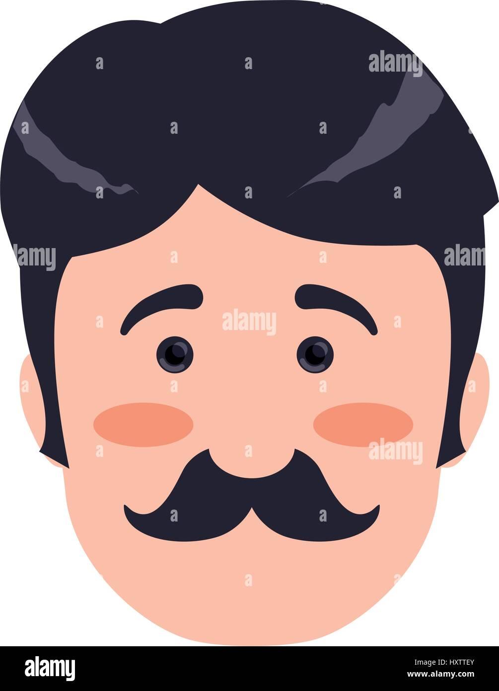 Man face cartoon - Stock Vector