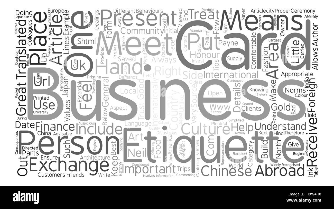Business card etiquette text background word cloud concept stock business card etiquette text background word cloud concept reheart Choice Image