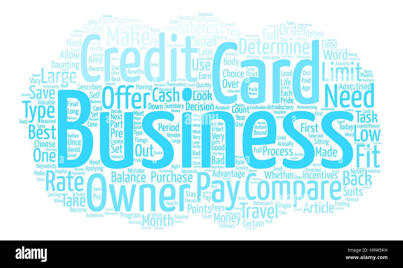 Compare Business Credit Cards and Save Money Word Cloud Concept Text ...