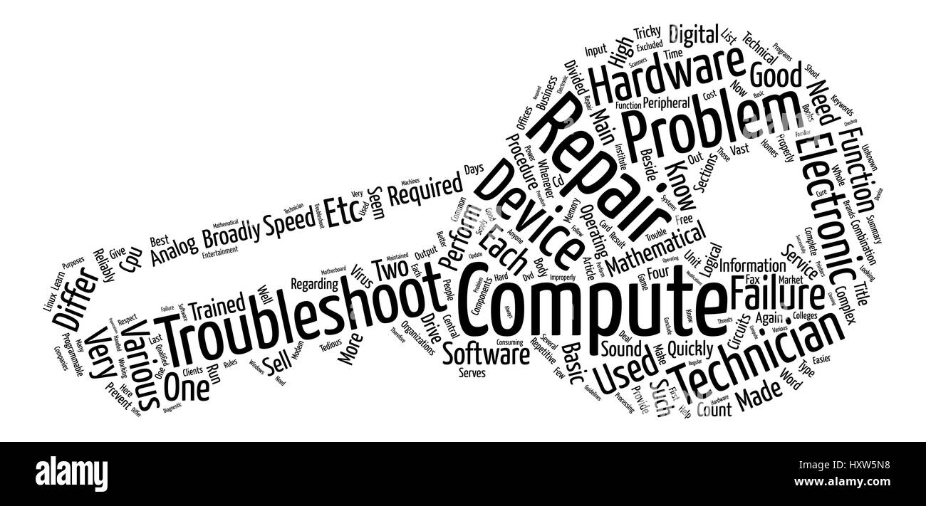 Computer Repair Is A Tricky Business text background word cloud concept - Stock Image