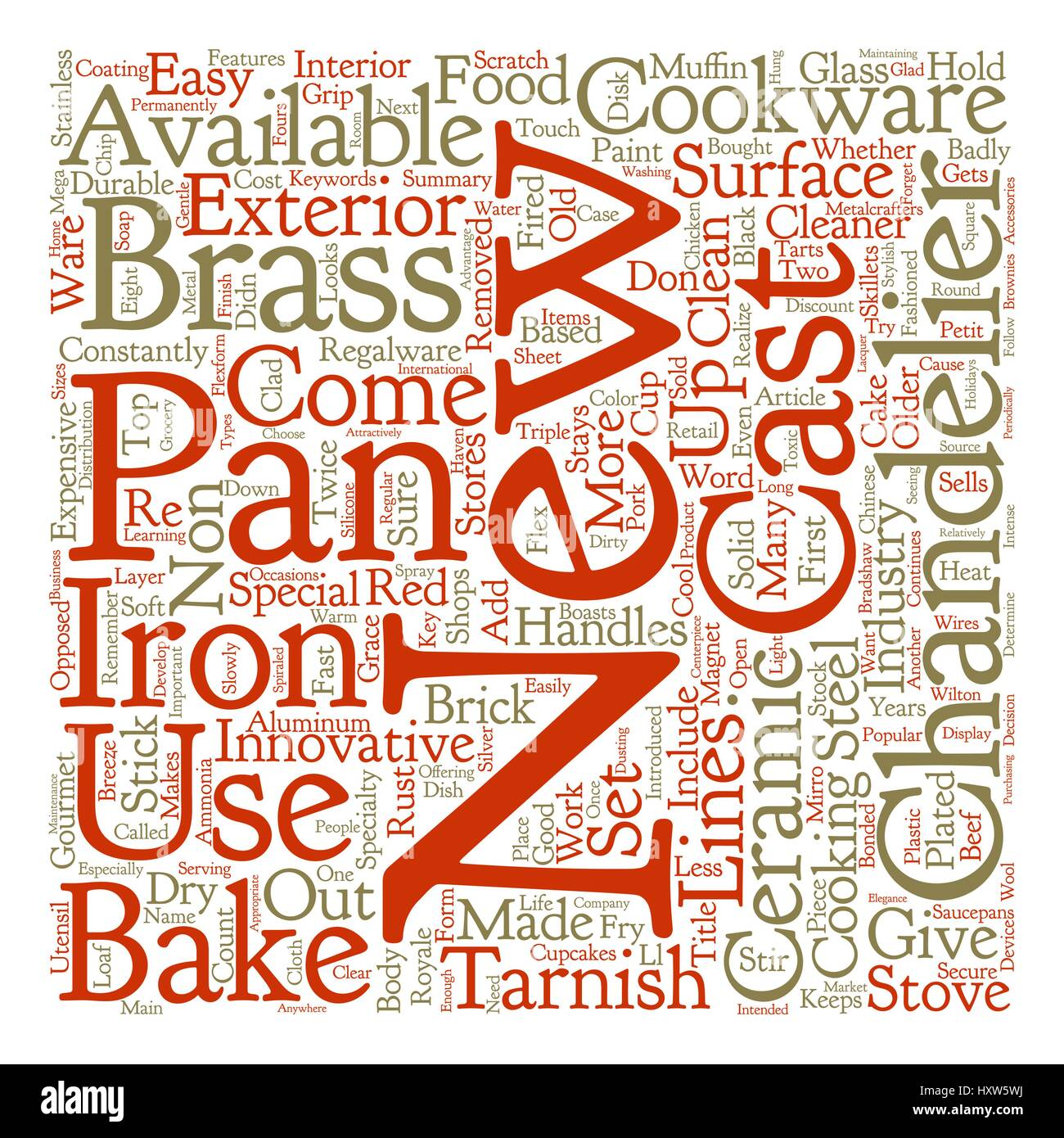 Cookware What s New In Cookware Word Cloud Concept Text Background - Stock Image
