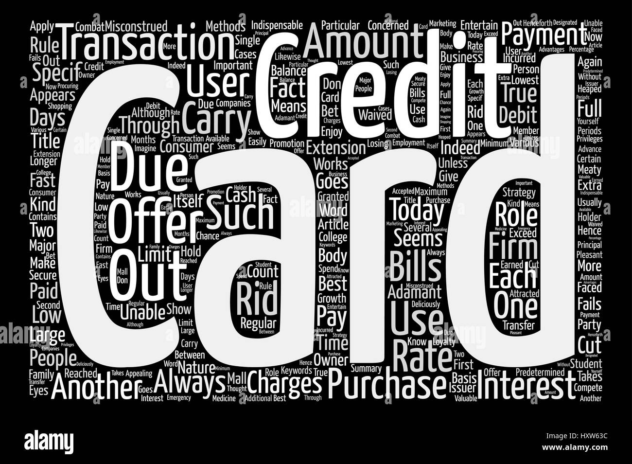 Credit Card Offers Get The Best Out Of It text background word cloud concept - Stock Vector