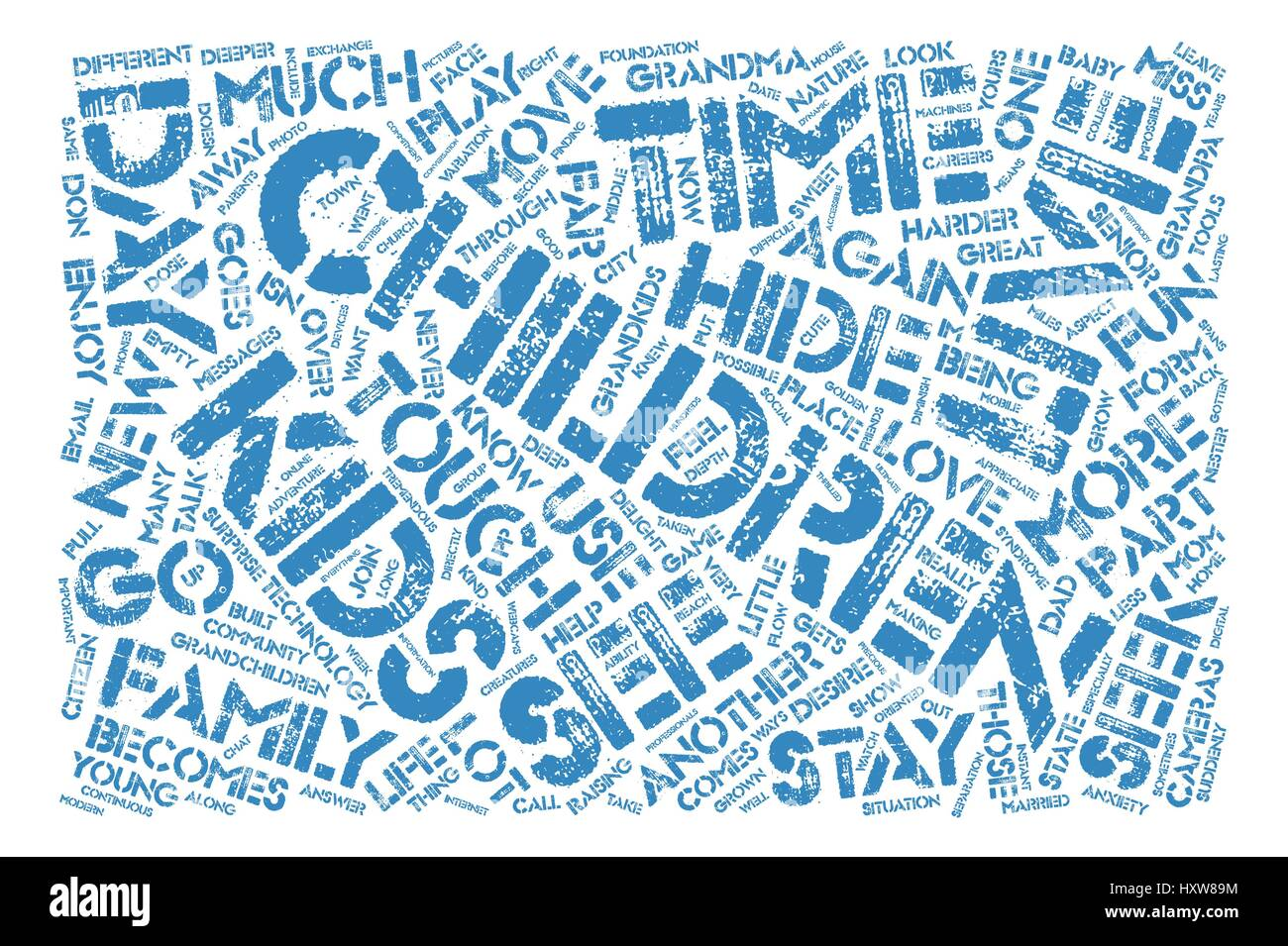 Hide and Seek text background word cloud concept - Stock Image