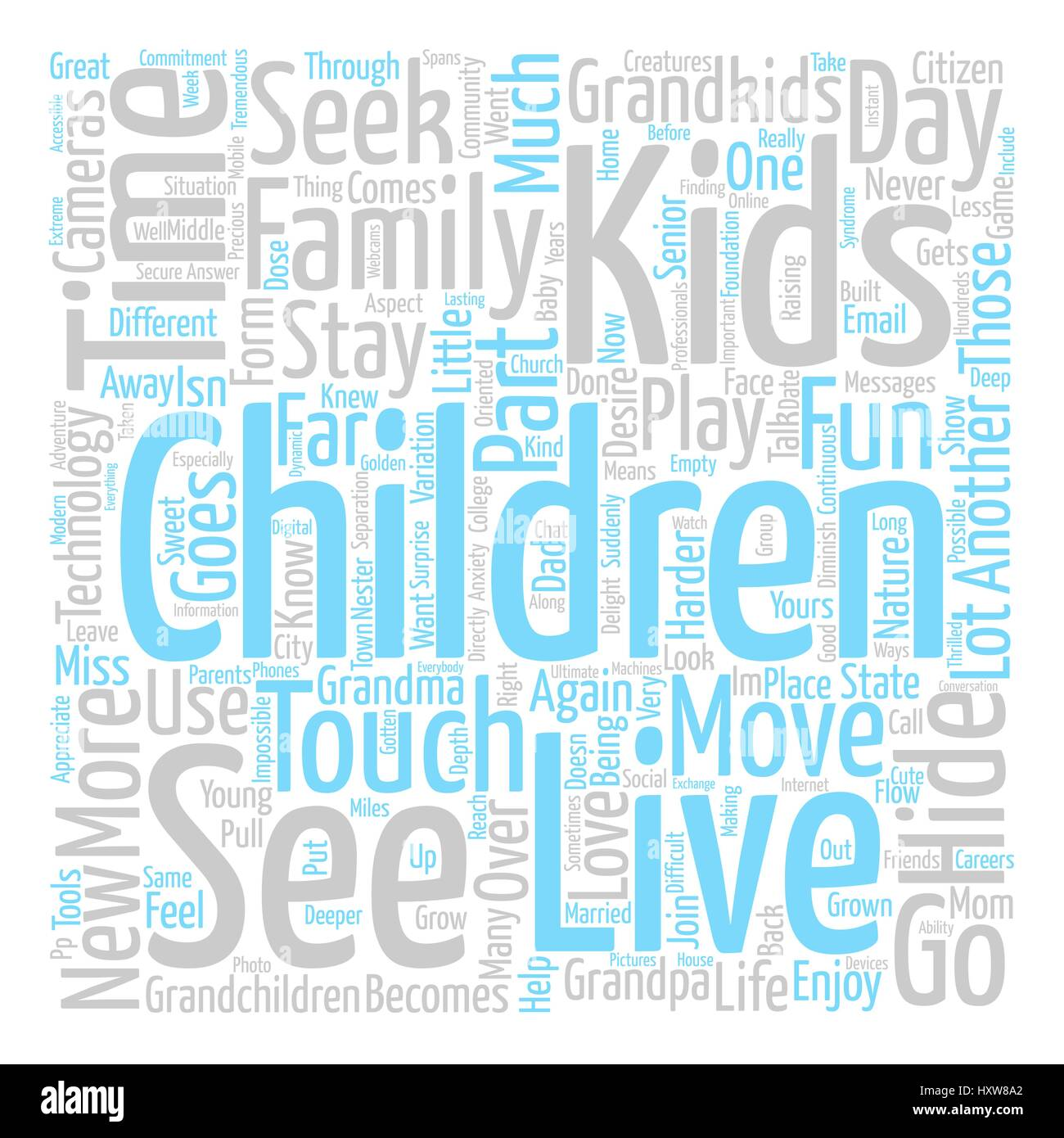 Hide and Seek Word Cloud Concept Text Background - Stock Image