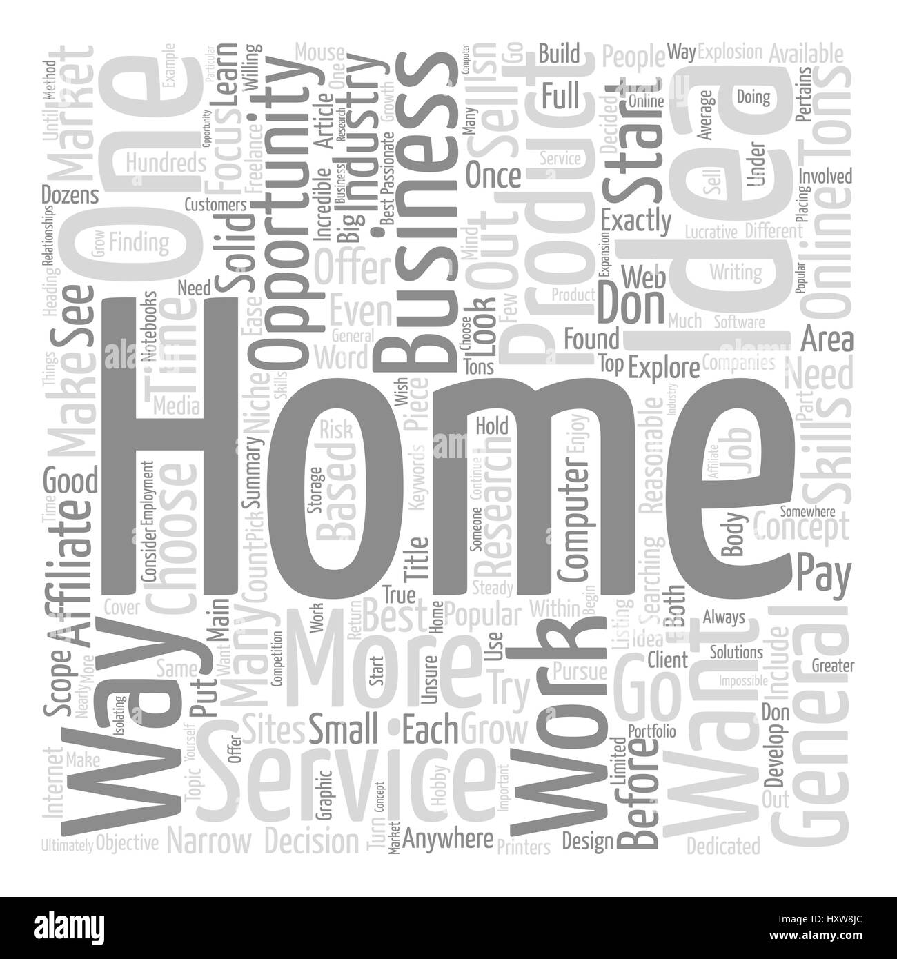 Work Home Opportunities Word Cloud Stock Photos & Work Home ...