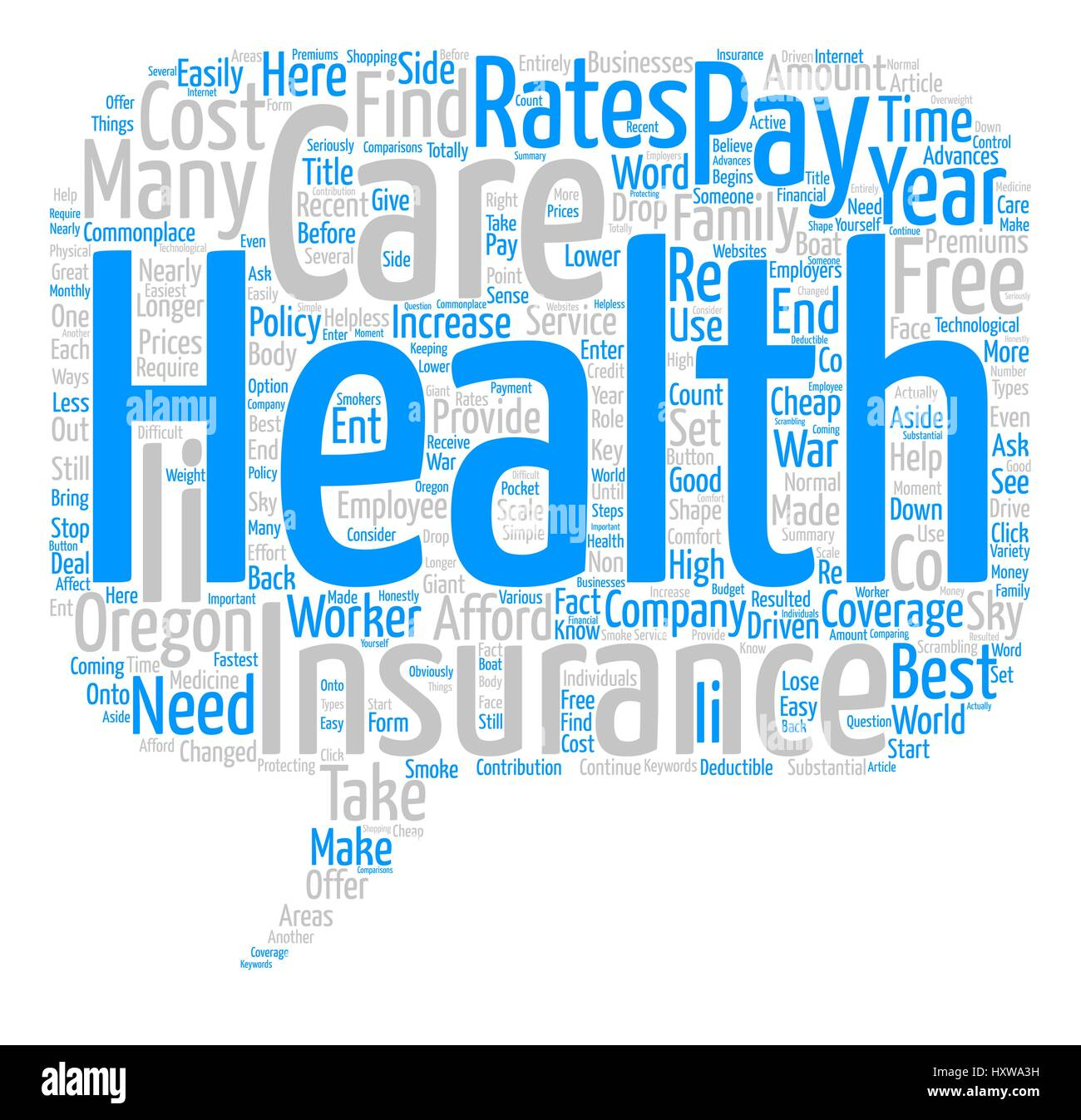 How To Find The Best Rates On Health Insurance In Oregon Word Cloud Stock Vector Image Art Alamy