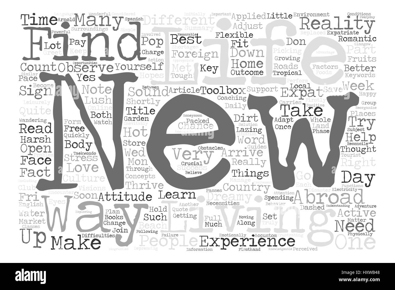 How To Thrive In A Foreign Environment Text Background Word Cloud