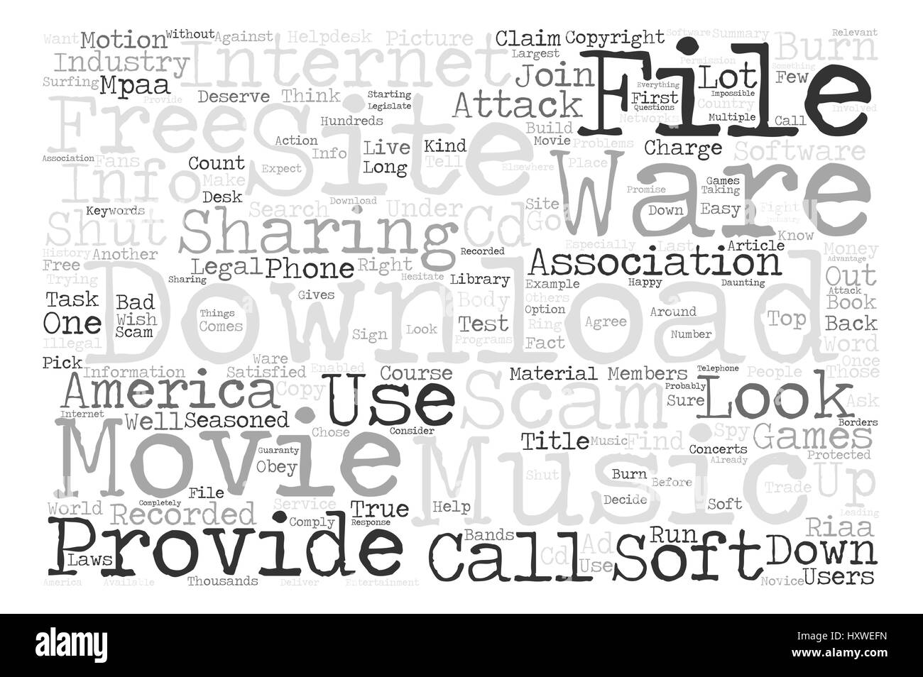 Music And Movies Download Sites Are They A Scam Word Cloud Concept