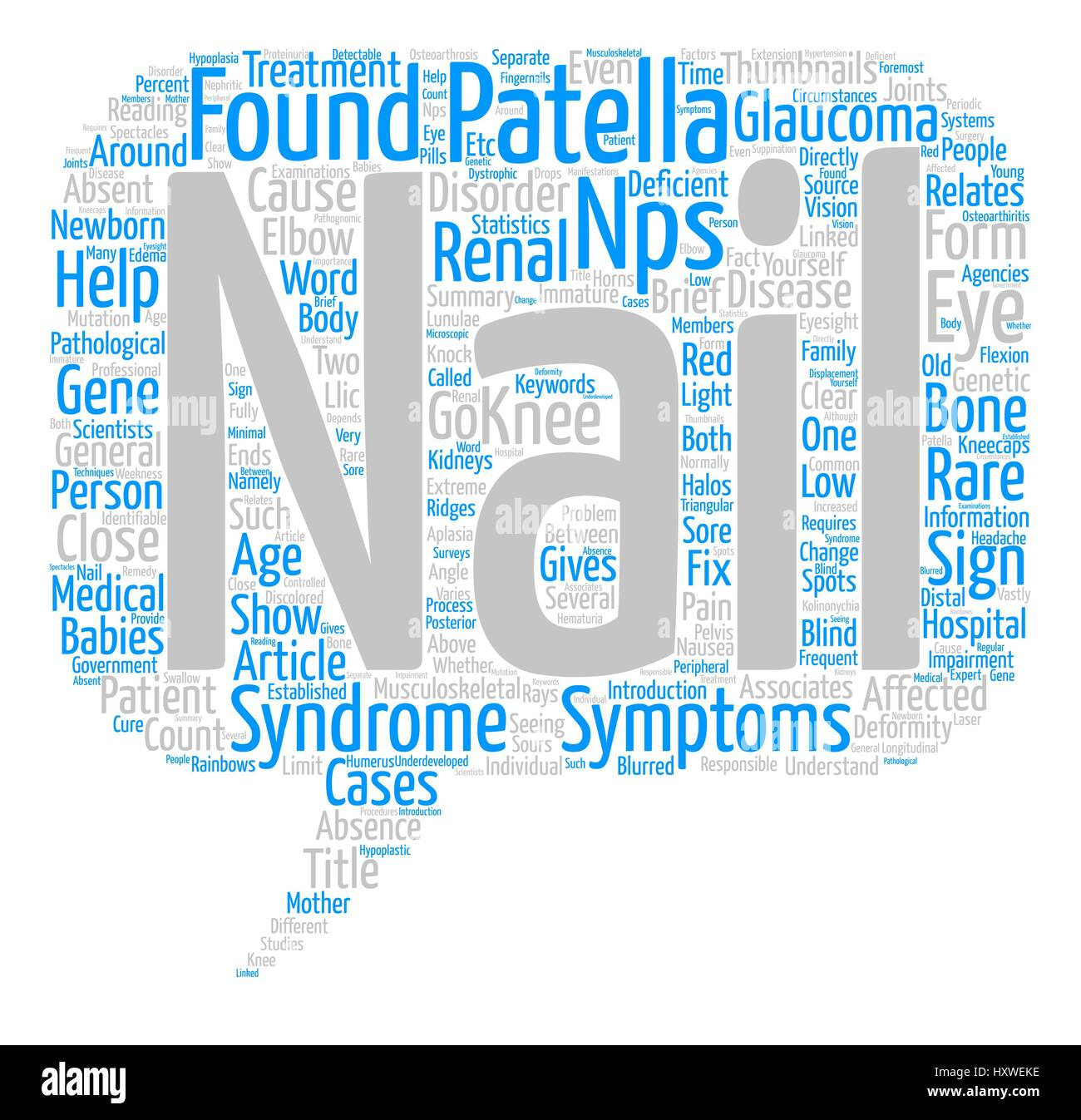 Nail Patella Syndrome text background word cloud concept Stock ...