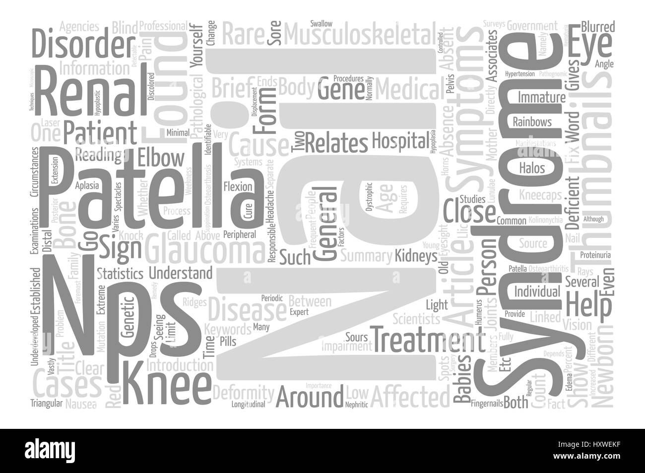 Nail Patella Syndrome Word Cloud Concept Text Background Stock ...