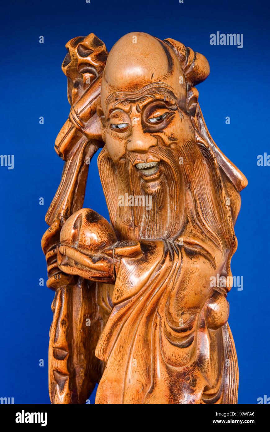 Shou Xing Chinese God of Longevity - Stock Image