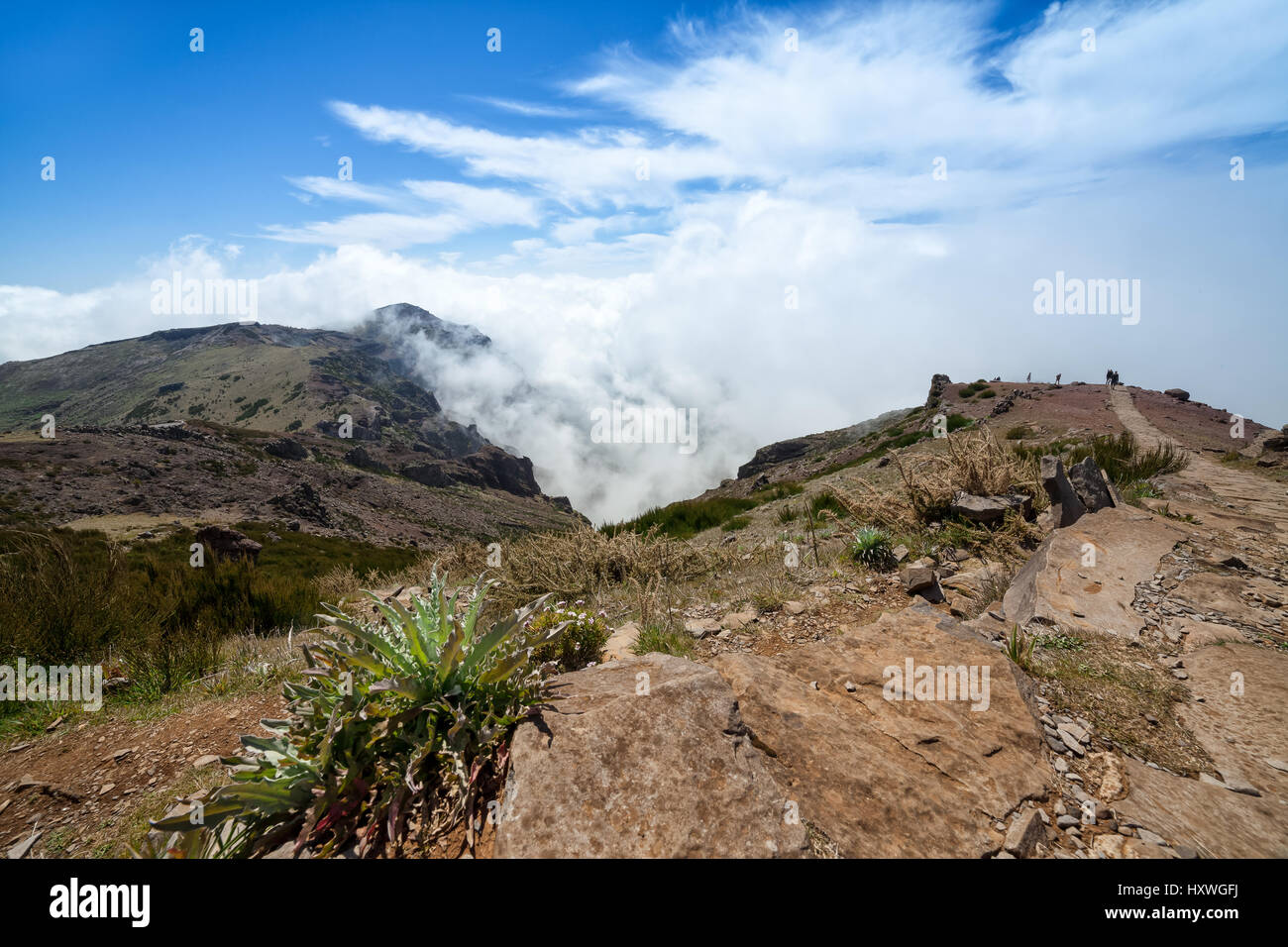 Mountain landscape, Madeira Islands, Pico do Arieiro - Stock Image