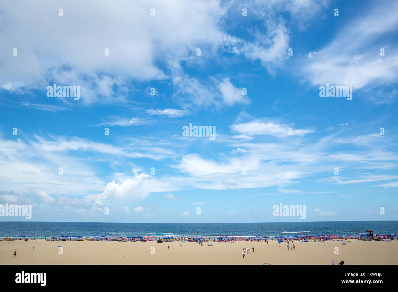 Ten mile Silver Beach of Yangjiang city,Guangdong Province,China - Stock Image