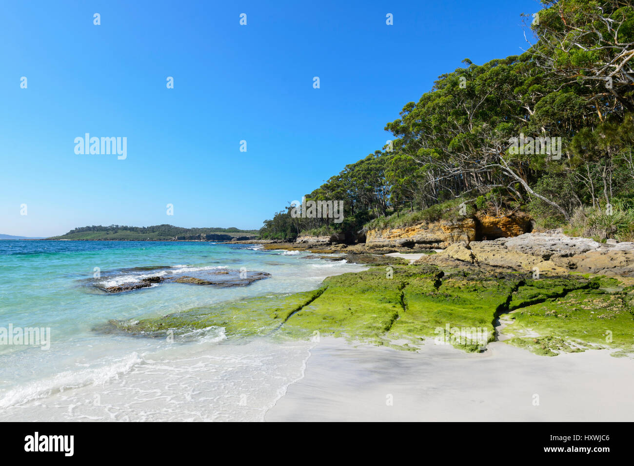 Southern end of Murray's Beach, Booderee National Park, Jervis Bay,  New South Wales, NSW, Australia - Stock Image