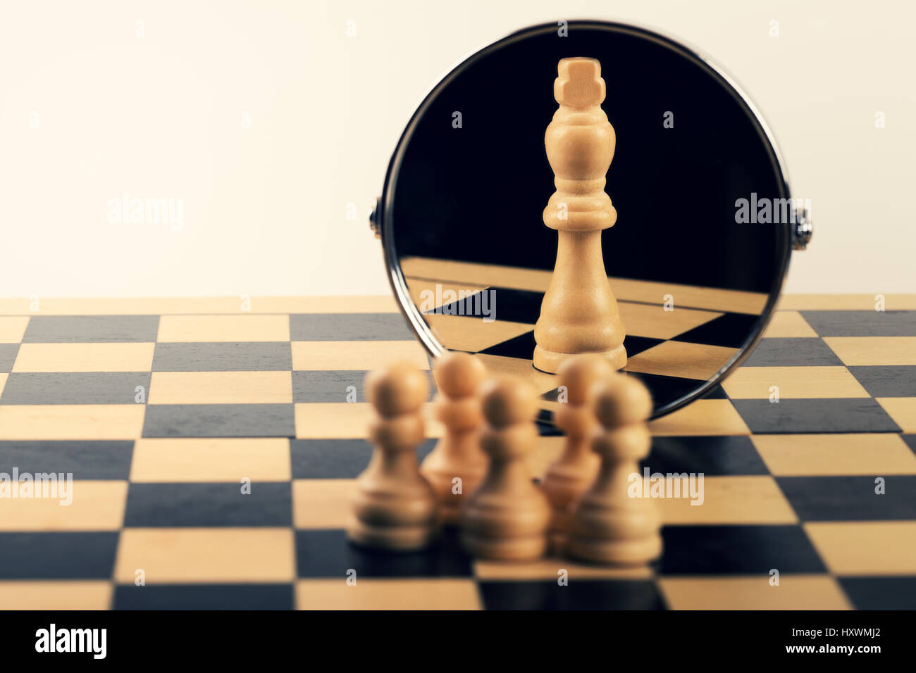 concept of business leadership teamwork power and belief - Stock Image