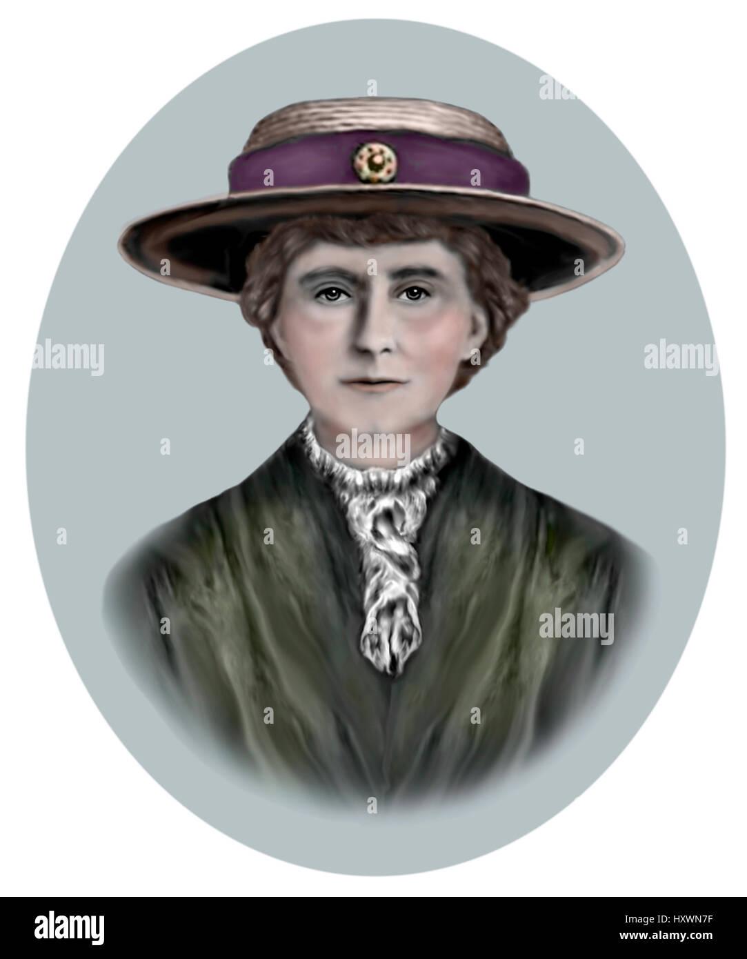 Emily Davison, 1872-1913, English Suffragette - Stock Image