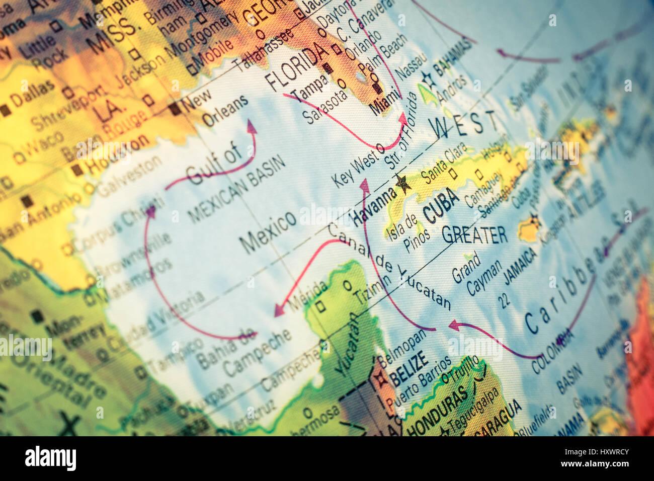 Cuba Florida Map.Map Of Cuba And Florida Stock Photos Map Of Cuba And Florida Stock
