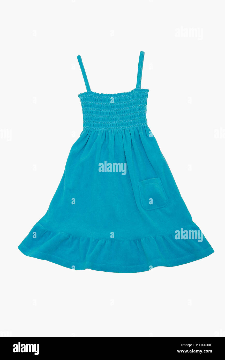 A blue sun dress - Stock Image