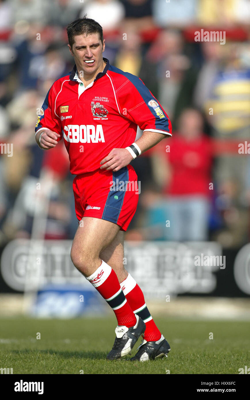 DAMIAN GIBSON SALFORD REDS RLFC THE WILLOWS SALFORD MANCHESTER 29 March 2002 - Stock Image